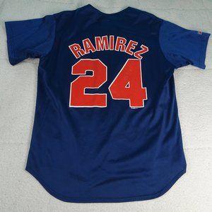 MLB Cleveland Indians Manny Ramirez #24 Jersey Lg